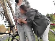 Outdoor handjob and blowjob with my best friend